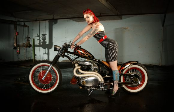 Pinup Polka Dots and Flames