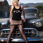 Pin-up Girl and Classic Car