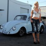 Blue Beetle and a Hot Blonde